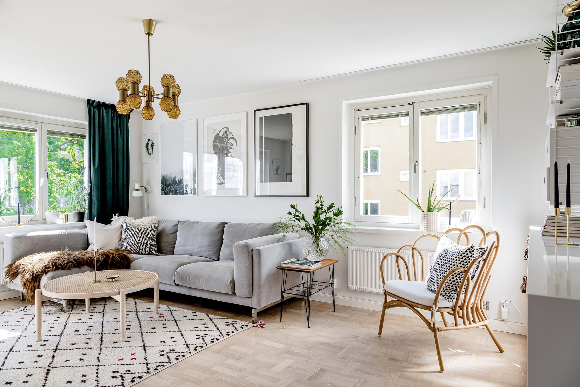Ljus och härligt vardagsrum